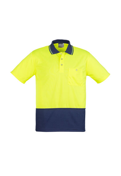 ZH231 Unisex Hi Vis Basic Spliced S/S Polo