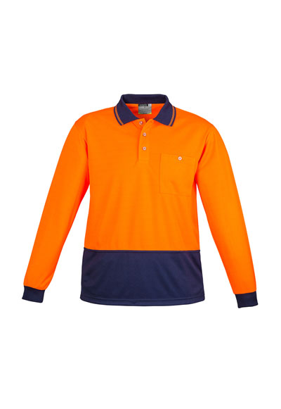 ZH232 Unisex Hi Vis Basic Spliced L/S Polo