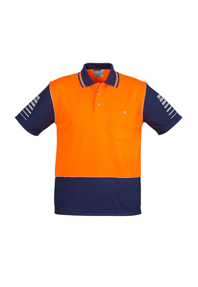 ZH236 Mens Hi Vis Zone Polo W/ Reflective Piping