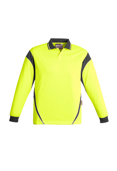 ZH249 Men's Hi Vis Aztec Polo - Long Sleeve