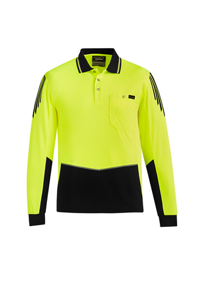 ZH310 Mens Hi Vis Flux L/S Polo