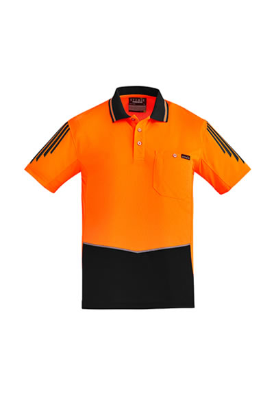 ZH315 Mens Hi Vis Flux S/S Polo