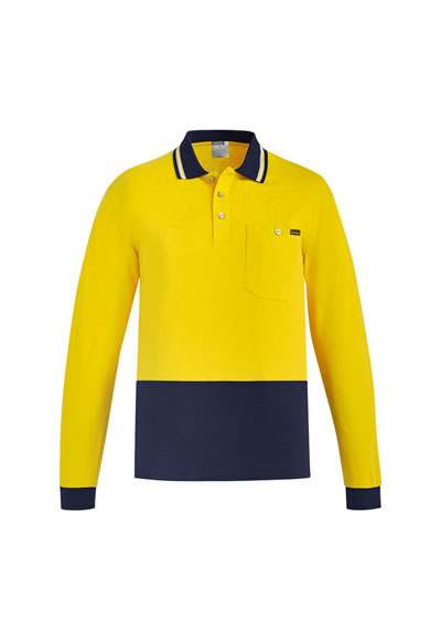 ZH430 Men's Hi Vis Cotton L/S Polo