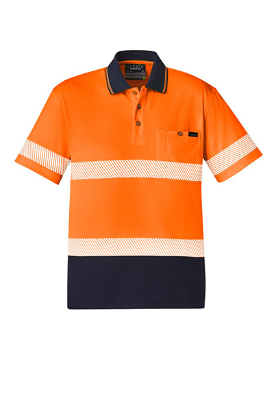 ZH535 Unisex Hi Vis Segmented S/S Polo - Hoop Taped