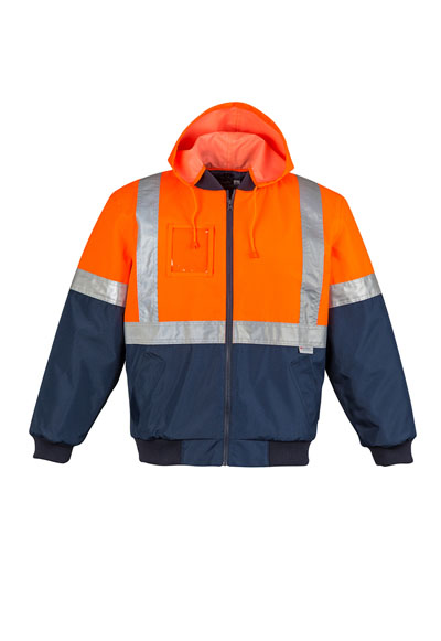 ZJ351 Men's Hi Vis Quilted Flying Jacket