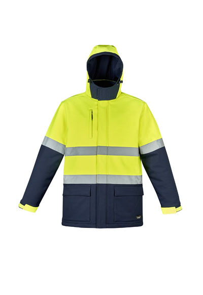 ZJ553 Unisex Hi Vis Antarctic Softshell Taped Jacket
