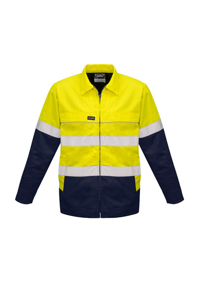 ZJ590 Men's Hi Vis 100 % Cotton Drill Jacket