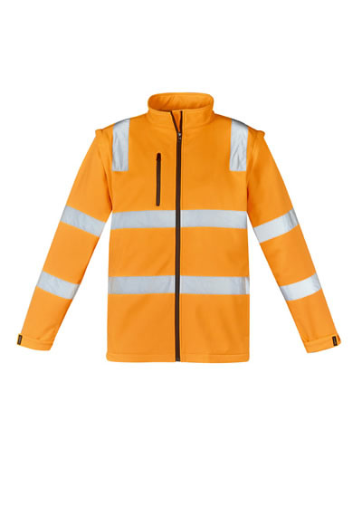 ZJ780 Unisex Hi Vis Vic Rail 2 in 1 Softshell Jacket