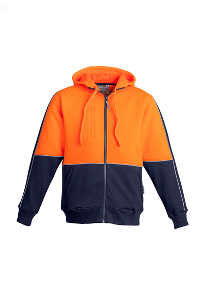 ZT464 Men's Hi Vis Full Zipped Hoodie [no tape]