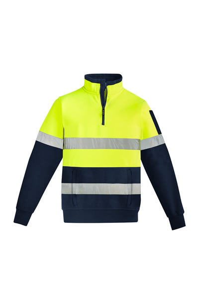 ZT566 Men's Hi Vis 1/4 Zip Pullover - Hoop Taped