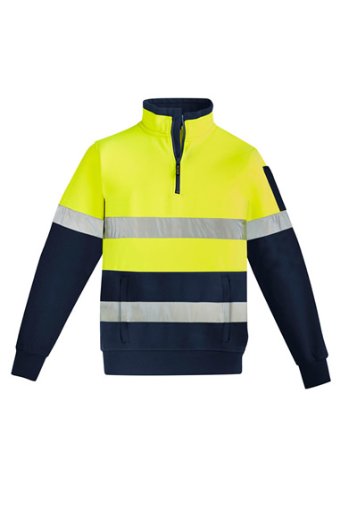 ZT567 Mens Hi Vis 1/4 Zip Pullover - Hoop Taped