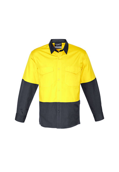 ZW128 Unisex Hi Vis Spliced Ruggered Shirt