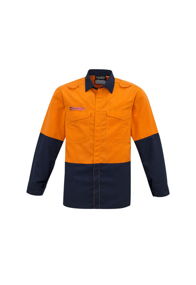 ZW138 Men's Hi Vis Spliced Shirt METATech® Fabric
