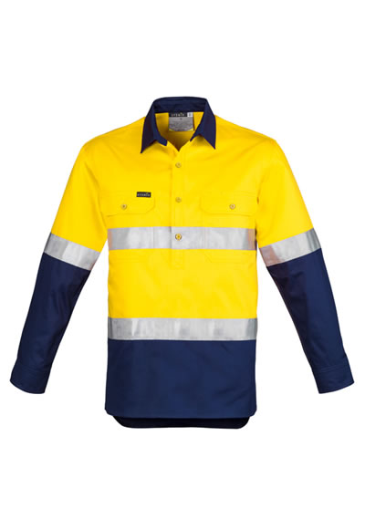 ZW550 Men's Hi Vis Taped Closed Front Shirt