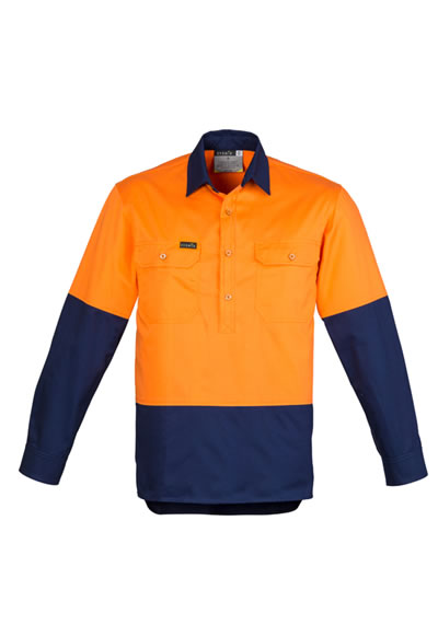 ZW560 Men's Hi Vis Closed Front Shirt